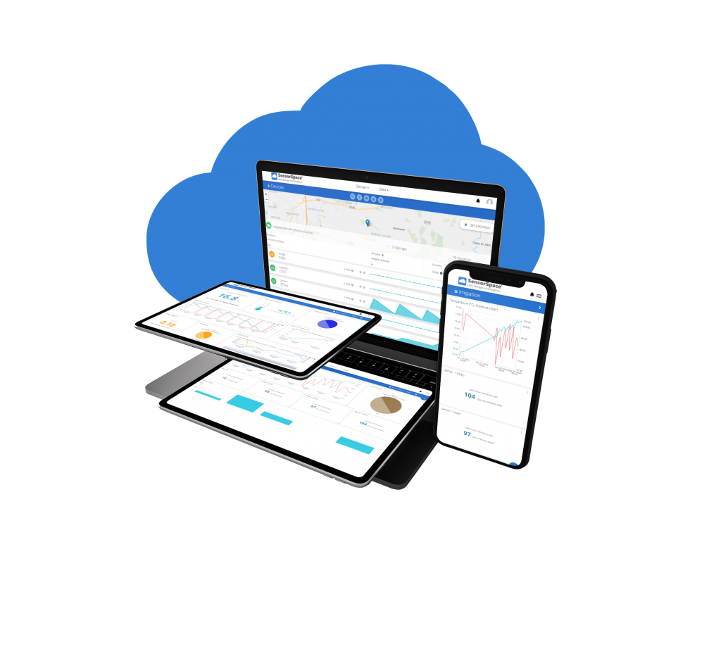 Live Dashboards SensorSpace is full responsive for mobile devices